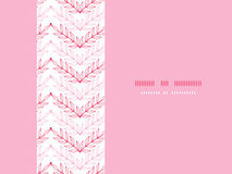 Pink lineart leaves chevron horizontal seamless Royalty Free Stock Photography