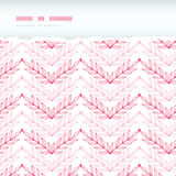 Pink lineart leaves chevron horizontal torn Stock Image