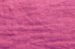 Pink linen cloth background Stock Photography