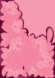Pink Lines Flowers_eps Royalty Free Stock Image