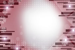 pink lines and stars, abstract background Stock Photo