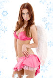 Pink lingerie angel Royalty Free Stock Photography