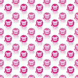 Pink Lions Seamless Pattern Royalty Free Stock Photo