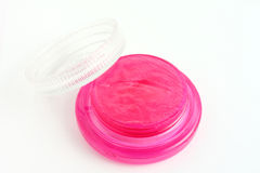 Pink lip balm. Royalty Free Stock Photography