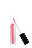 Pink lip gloss Stock Images