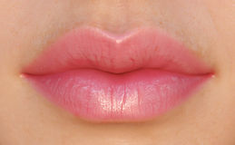 Pink Lips Royalty Free Stock Photo