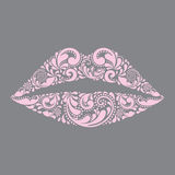 Pink lips . Fashion and beauty. Stock Image