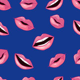 Pink Lips Pattern. Vector Illustration Royalty Free Stock Image