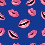 Pink Lips Pattern. Vector Illustration Royalty Free Stock Image