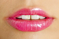 Pink lipstick Stock Images
