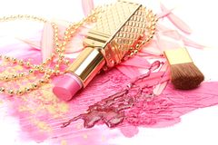 Pink lipstick Royalty Free Stock Photos