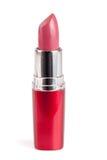 Pink lipstick isolated on white background closeup Stock Photo