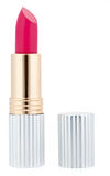 Pink lipstick with metal tube Stock Images