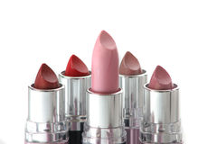 Pink lipstick and othe four Stock Image