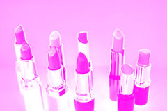Pink lipstick Stock Image