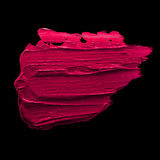 Pink lipstick smudge. D on a black isolated background Stock Image