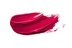 Pink lipstick smudge. D on a white isolated background Stock Images