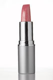 Pink lipstick on white background Stock Images