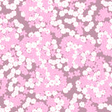 Pink little flowers seamless pattern. Stock Photos