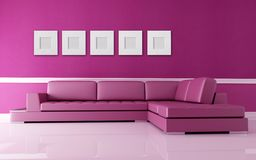 Pink living room royalty free stock images