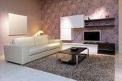 Pink living room Royalty Free Stock Photos