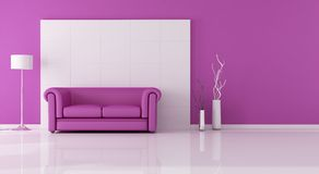 Pink living room Royalty Free Stock Image