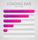 Pink Loading Bars Royalty Free Stock Photography