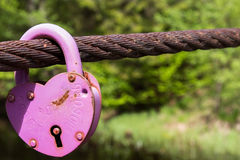 Pink lock Royalty Free Stock Images