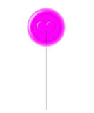 Pink Lollipop. With Clipping Path Stock Photo