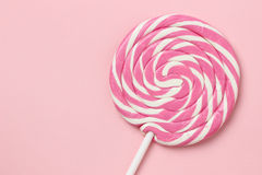 Pink lollipop Stock Images