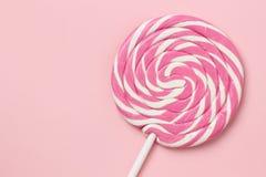 Pink lollipop Stock Images