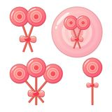 Pink lollipops Royalty Free Stock Images