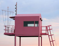Pink lookout station Stock Photography