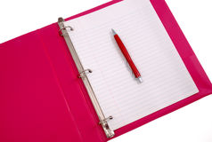 Pink Looseleaf Binder Royalty Free Stock Images