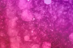 Pink a lot of falling glitter one color bokeh texture - wonderful abstract photo background royalty free stock images