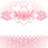 Pink lotus banner Stock Photo