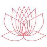 Pink lotus flower. Element of design. You can use as a logo  Royalty Free Stock Image