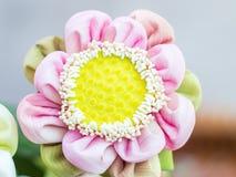 Pink lotus for pray buddha Royalty Free Stock Photos