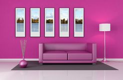 Pink lounge Stock Images