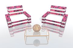 The pink lounge Royalty Free Stock Photography