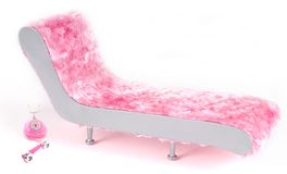 Pink Lounger and Phone Stock Images