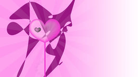 Pink love. Colorful abstract background with hearts Stock Image