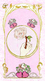 Pink love. Very romantic pink greeting card Royalty Free Stock Photos