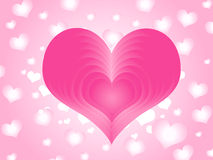 Pink love Stock Photography