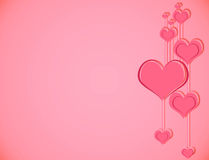 Pink love background. Classic Valentine's day background with pink hearts Stock Photography