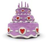 Pink Love cake Royalty Free Stock Photo