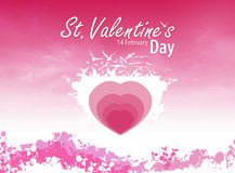 Pink love card royalty free stock photography