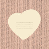 Pink Love Card. Grunge backdrop with scratches. Stock Photography