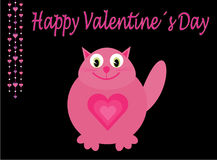 Pink love cat Royalty Free Stock Photos