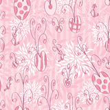 Pink Love Doodle Seamless Pattern_eps Royalty Free Stock Photos